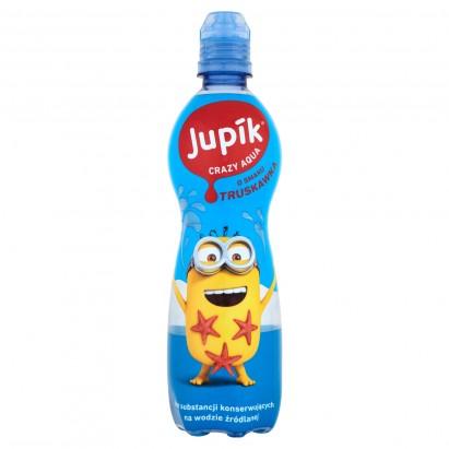 Jupik Crazy Aqua o smaku truskawka Napój niegazowany 500 ml
