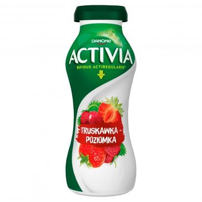 Danone Activia Jogurt truskawka-poziomka 195 g