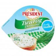 Président Twaróg Delikatny ze szczypiorkiem 200 g
