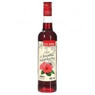 Syrop nasze domowe z kwiatów hibiskusa 400ml Premium Rosa