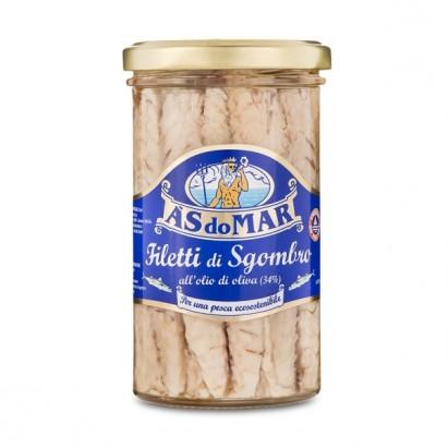 Filet z makreli w oliwie z oliwek 150g słoik Viands