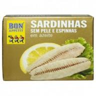 Sardynki filet bez skóry i ości w oliwie 120g Viands JKS