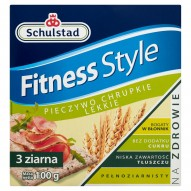 Schulstad Fitness Style Pieczywo chrupkie lekkie 3 ziarna 100 g