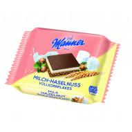 Manner Wafelek mleczno-czekoladowy z płatkami pełnoziarnistymi 25g