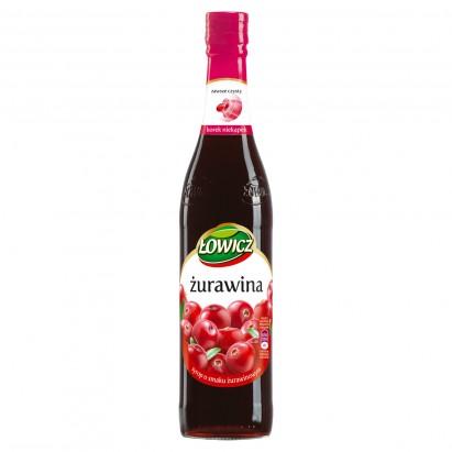 Łowicz Syrop o smaku żurawinowym 440 ml