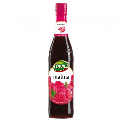 Łowicz Syrop o smaku malinowym 440 ml