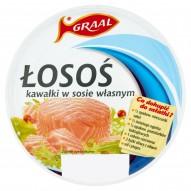 GRAAL Łosoś kawałki w sosie własnym 150 g