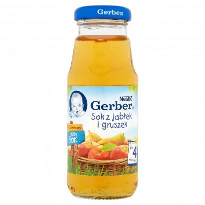 Gerber Mój pierwszy 100% Sok z jabłek i gruszek po 4 miesiącu 175 ml