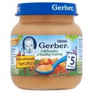 Gerber Moja pierwsza łyżeczka Jabłuszka z kaszką manną po 5 miesiącu 125 g