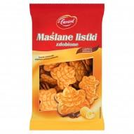 dr Gerard Maślane listki zdobione Kruche ciasteczka zdobione polewą kakaową 280 g