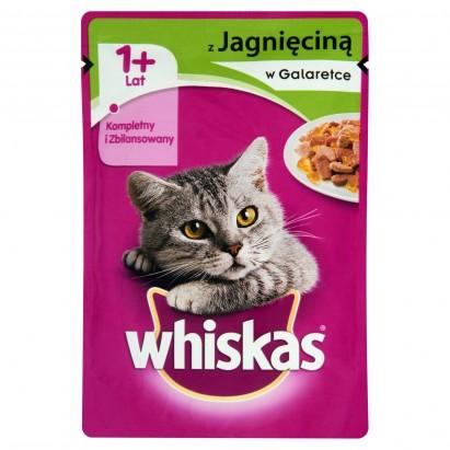 Whiskas z jagnięciną w galaretce Karma pełnoporcjowa 1+ lat 100 g