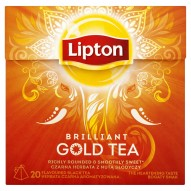 Lipton Brilliant Gold Tea Herbata czarna aromatyzowana 38 g (20 torebek)