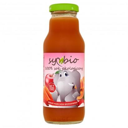 Symbio Jabłko marchew brzoskwinia 100% sok ekologiczny 300 ml