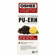 Oshee Vitamin Herbata czerwona Pu-Erh o smaku cytrynowym 35 g (20 torebek)