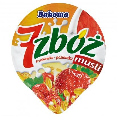 Bakoma 7 zbóż musli truskawka-poziomka Jogurt 200 g