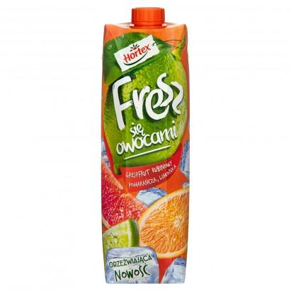 Hortex Fresz się owocami Grejpfrut Rubinowy Pomarańcza Limonka Napój 1 l