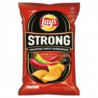Lay's Strong Pikantne chipsy karbowane o smaku ostre chilli 140 g