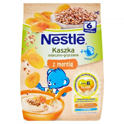 Nestlé Kaszka mleczno-gryczana z morelą po 6 miesiącu 180 g
