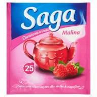 Saga Herbatka owocowa o smaku malina 45 g (25 torebek)