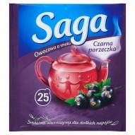 Saga Herbatka owocowa o smaku czarna porzeczka 45 g (25 torebek)