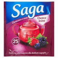 Saga Herbatka owocowa o smaku owoce leśne 45 g (25 torebek)