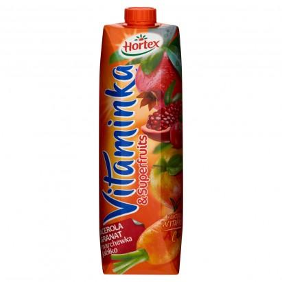 Hortex Vitaminka & Superfruits Acerola granat marchewka jabłko Sok 1 l
