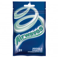 Airwaves Menthol & Eucalyptus Guma do żucia bez cukru 29 g (21 drażetek)