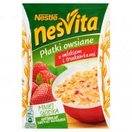 Nesvita Płatki owsiane z mlekiem i truskawkami 49 g