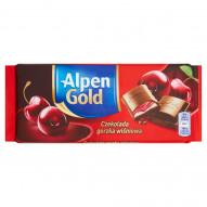Alpen Gold Czekolada gorzka wiśniowa 90 g
