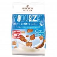 Polskie Młyny Poduszki Chrupki zbożowe z nadzieniem o smaku kokosowym 150 g
