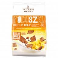 Polskie Młyny Poduszki Chrupki zbożowe z nadzieniem o smaku waniliowym 150 g