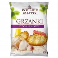 Polskie Młyny Grzanki czosnkowe typu skorpor 200 g