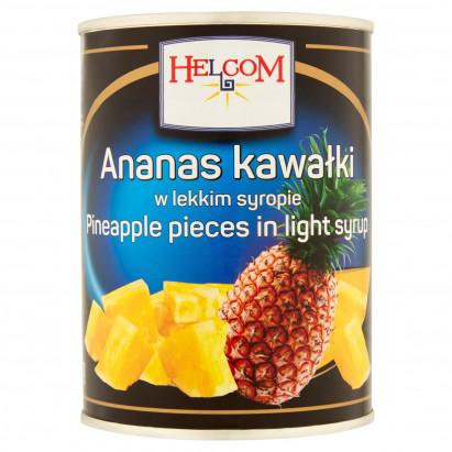 Helcom Ananas kawałki w lekkim syropie 565 g