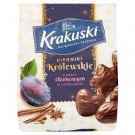 Krakuski Pierniki Królewskie o smaku śliwkowym w czekoladzie 150 g