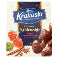 Krakuski Pierniki Królewskie o smaku truskawkowym w czekoladzie 150 g