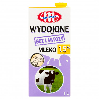 Mlekovita Wydojone Mleko bez laktozy 1,5% 1 l