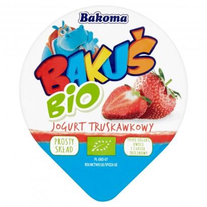 Bakoma Bakuś BIO Jogurt truskawkowy 100 g