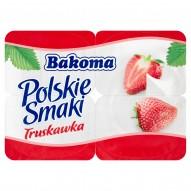 Bakoma Polskie Smaki Deser jogurtowy z truskawkami 480 g (4 sztuki)