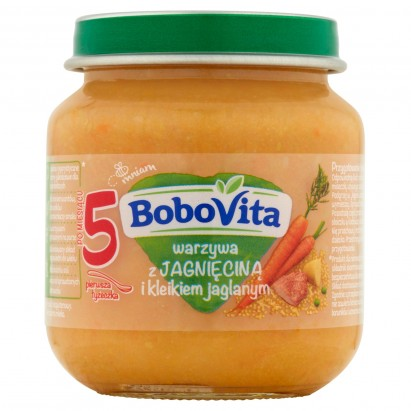 BoboVita Warzywa z jagnięciną i kleikiem jaglanym po 5 miesiącu 125 g