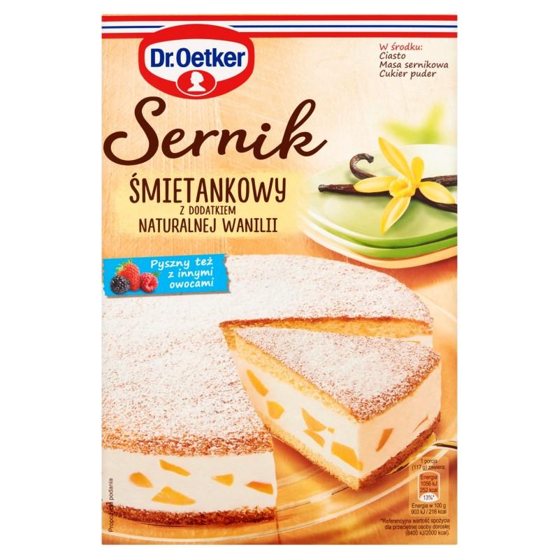 Dr Oetker Sernik Smietankowy Z Dodatkiem Naturalnej Wanilii 390 G