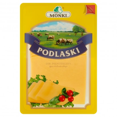 MSM Mońki Podlaski ser pełnotłusty typu holenderskiego plastry 150 g