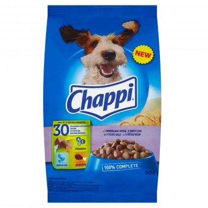 Chappi z 3 rodzajami mięsa Karma pełnoporcjowa 500 g