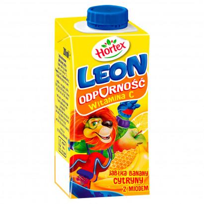 Hortex Leon Nektar jabłka banany cytryny z miodem 200 ml