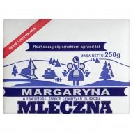 Mleczna Margaryna o zawartości trzech czwartych tłuszczu 250 g
