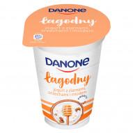 Danone łagodny Jogurt z ziarnami orzechami i miodem 175 g