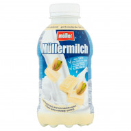 Müller Müllermilch Napój mleczny o smaku białej czekolady i pistacji 377 ml