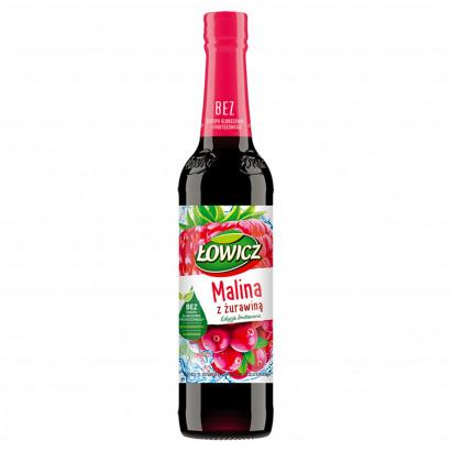 Łowicz Syrop o smaku malinowym z żurawiną 400 ml