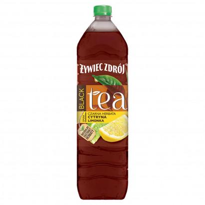 Żywiec Zdrój Black Tea Napój niegazowany czarna herbata cytryna limonka 1,5 l