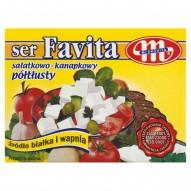 Mlekovita Favita Ser sałatkowo-kanapkowy półtłusty 200 g