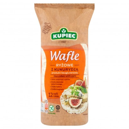 Kupiec Wafle ryżowe z kukurydzą 120 g (12 sztuk)